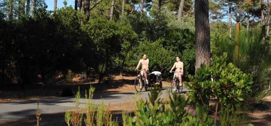 vélo village naturiste - piste cyclable côte atlantique