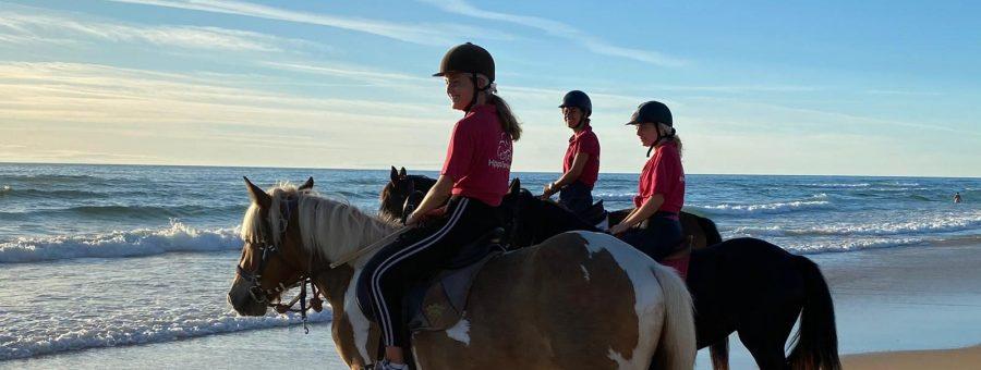 équitation plage Lacanau, Cap Ferret, Arcachon